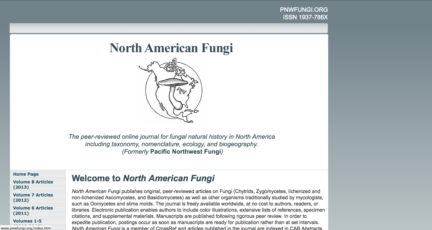 North American Fungi Website